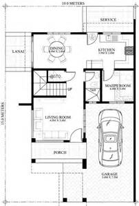 Single Line Floor Plan by Prosperito Single Attached Two Story House Design With