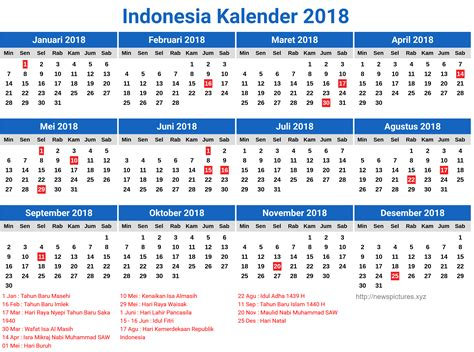 printable calendar 2018 indonesia 2018 calendar indonesia merry christmas and happy new