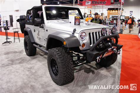silver jeep 2 door 2012 sema bestop silver 2 door jeep jk wrangler