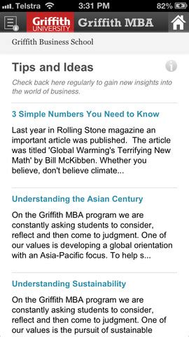 Griffith Mba For International Students by Griffith Unveils Mba For App Mba News Australia