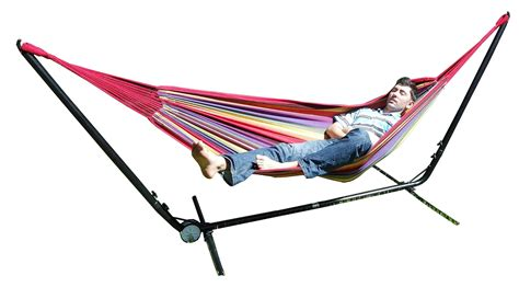 free standing hammock free standing hammock purple and red multi coloured