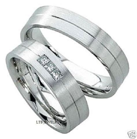 white gold mens womens   matching wedding