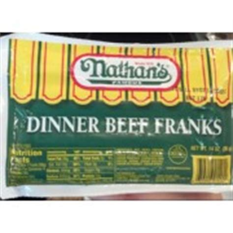 nathan s calories nathan s dinner beef franks calories nutrition analysis more fooducate