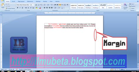 Cara Membuat Garis Di Atas Tulisan Di Word | ilmu beta cara menilkan garis tepi margin di ms