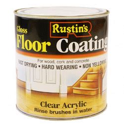 rustins acrylic floor coating gloss stax trade