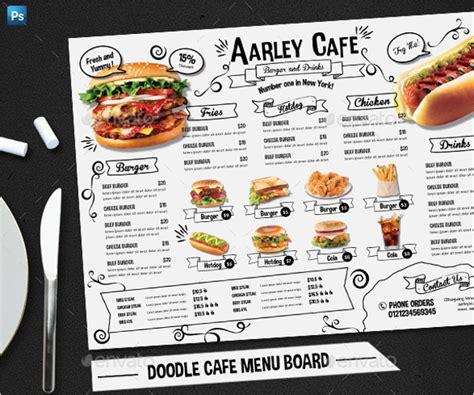 doodle cafe doodle cafe menu board design