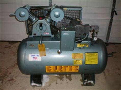 curtis industrial 2 stage air compressor 60 gal tank