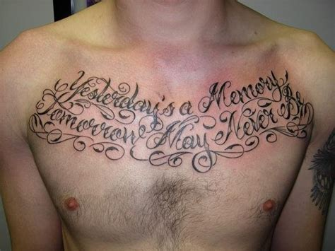 Chest Piece Tattoos Quotes Quotesgram Chest Quotes About