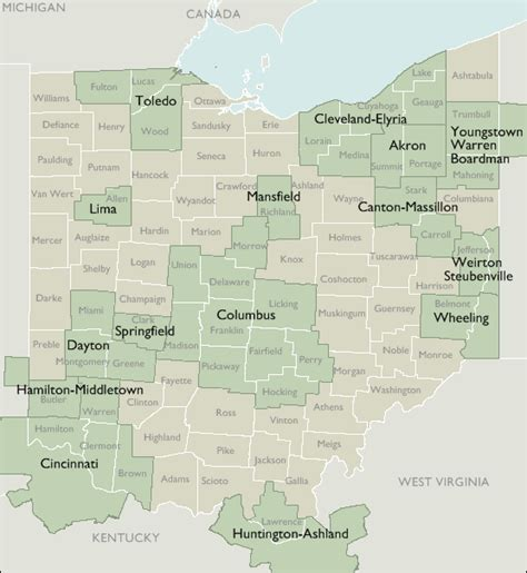 ohio zip code map metro area zip code maps of ohio