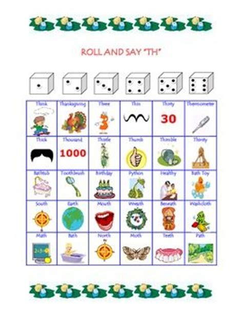 printable sound dice slp articulation dice game for th communication station