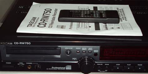 format audio cd normal tascam cd rw750 image 19426 audiofanzine