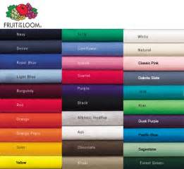 color image apparel fruit of the loom colors