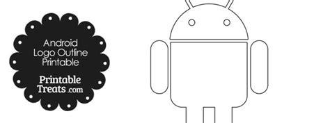 printable android logo outline printable treatscom