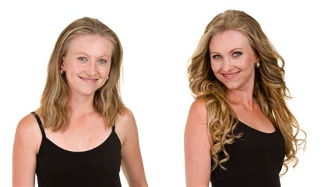 the shocking hair extensions before and after you have to win clip in hair extensions from front row worth r1290