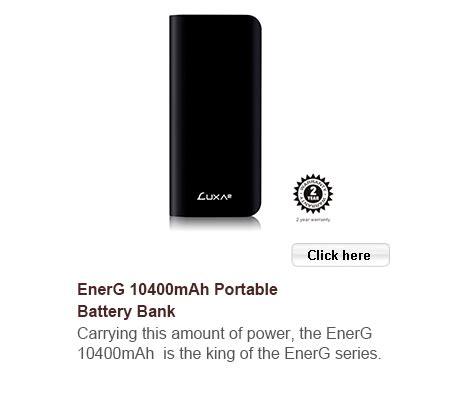 Luxa2 Energ 6600mah Portable Power Bank