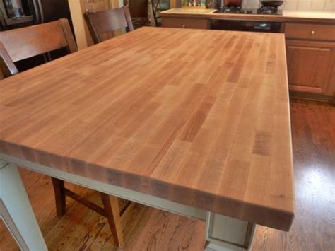 hand  butcher block kitchen table  parker custom woodworks custommadecom
