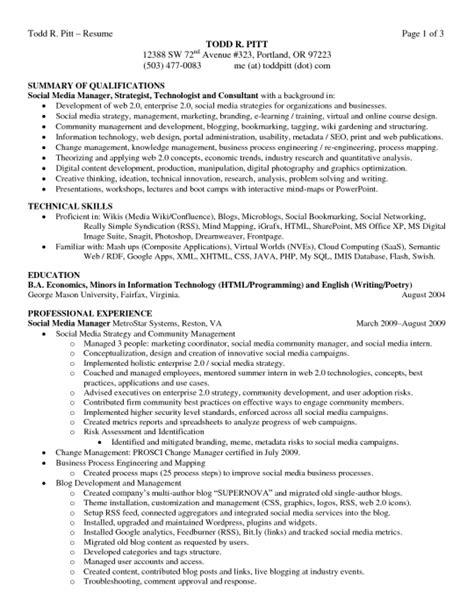 Resume Career Summary Exles The Resume Summary Exles Resume Format Web