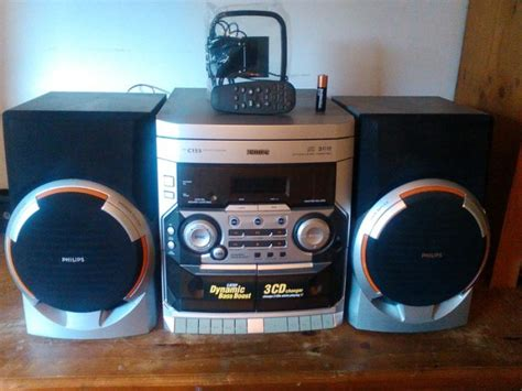 philips midi stereo system with remote alarm etc for sale