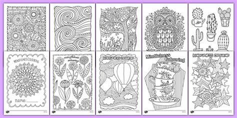 stress pattern in french mindfulness colouring sheets bumper pack mindfulness