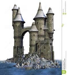 fantasy castle on an island stock image image 24111101