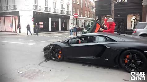 Lamborghini Youtube Crash by Guy Crashes Lamborghini Youtube