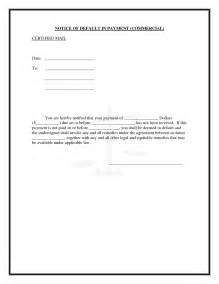 Default Notice Template by 9 Best Images Of Default Notice In Lease Grant Request