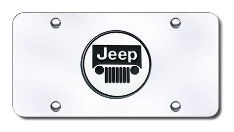 Jeep License Plates Jeep License Plates Vanity Logo Tags Chrome Logo