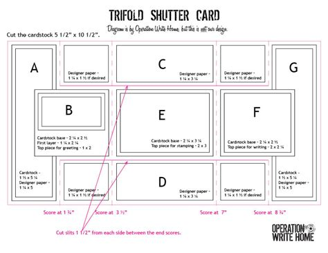 tri shutter card template cardmaking 301 trifold shutter card tutorial operation