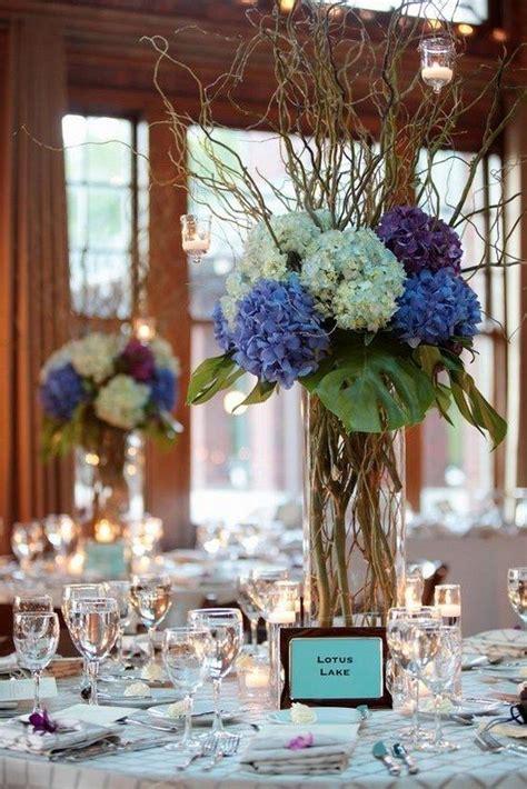 blue floral centerpieces 25 best hydrangea wedding centerpieces ideas on