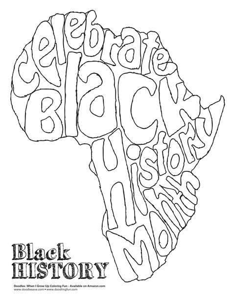 Black History Month Color Pages Black History Month Coloring Pages Getcoloringpages Com by Black History Month Color Pages