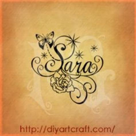 tattoo name sara my name birth flowers and beautiful patterns on pinterest