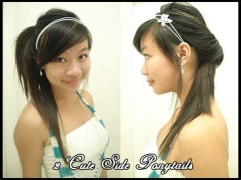 cute ponytails  medium long hair  quick  easy