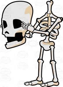 skeleton detaching skull cartoon clipart