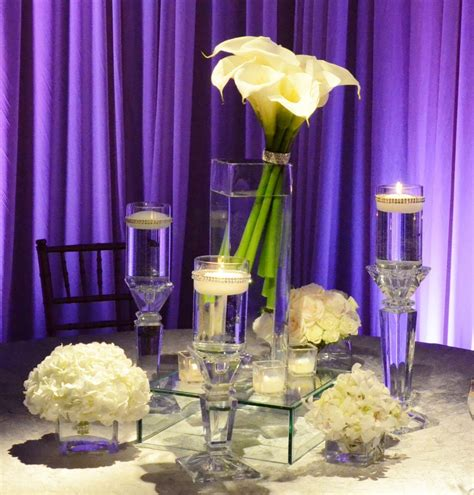 Simple And Elegant Guest Table Decor Wedding Flowers And Calla Lilies Centerpieces For Weddings