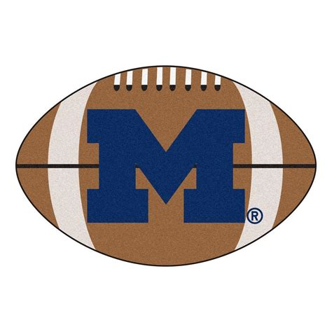 of michigan rug fanmats ncaa of michigan brown 1 ft 10 in x 2 ft 11 in specialty accent rug 3403
