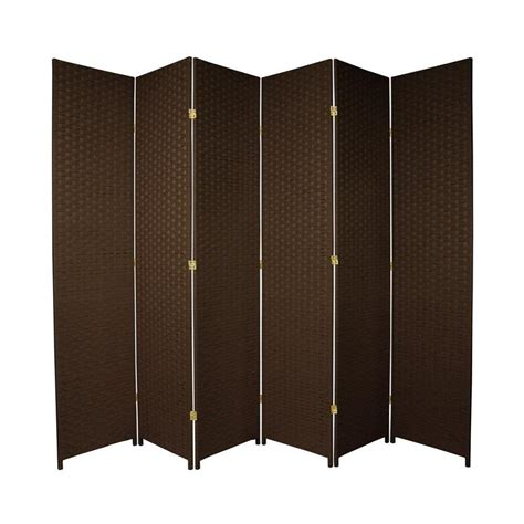 lowes room dividers shop furniture room dividers 6 panel mocha folding indoor privacy screen at lowes
