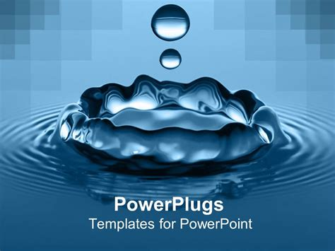 powerpoint templates for powerpoint template high speed up of water drop