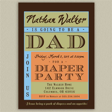 diaper party invitations templates invitations ideas