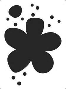 This childrens flower stencil is availble to brighten up a nusery
