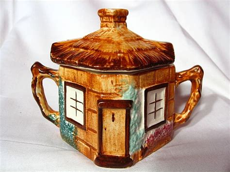 Pottery Cottage by Keele Pottery Cottage Ware Creamer Covered Sugar