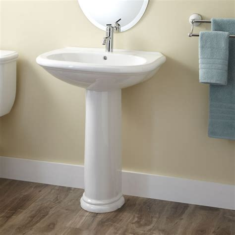 single pedestal sink kennard porcelain pedestal sink bathroom sinks bathroom
