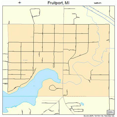 fruitport mi fruitport michigan map 2631000