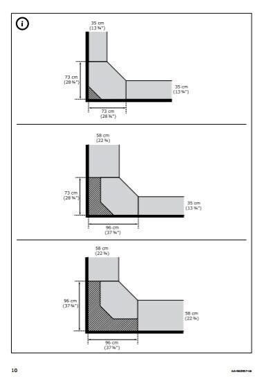 Ikea Pax Wardrobe Dimensions - ikea corner wardrobe white oak stained veneer pax