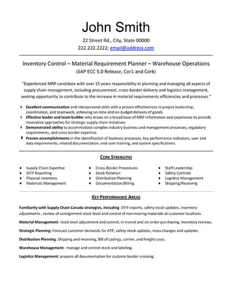 Free Sle Resume For Inventory Clerk Inventory Controller Resume Format 28 Images Inventory Management Clerk Resume Sales