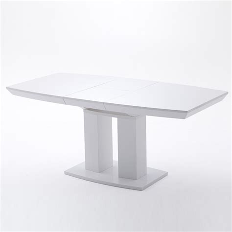 genisimo extendable pedestal dining table in high gloss