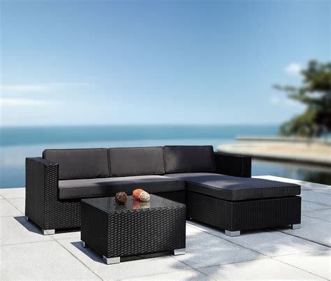 modern patio sofa coiba modern patio sectional sofa and coffee table