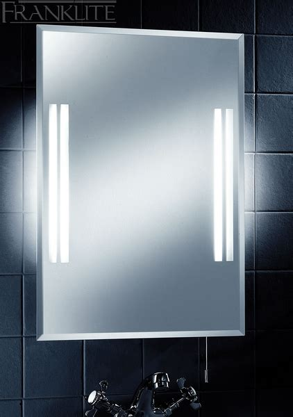 illuminated bathroom mirrors with shaver socket franklite frn24el ip44 illuminated bathroom mirror with