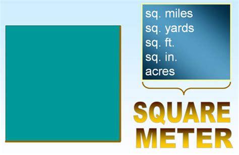 meters squared metrics