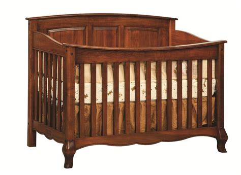 Baby Cribs On Ebay Amish Baby Crib Solid Wood Nursery Furniture Conversion Toddler Bed Ebay