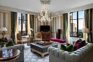 living room suits restoring vintage glamour to new york city the new st regis new york andrew forbes